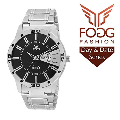 Fogg Analog Black Dial Men's Watch 2034-BK