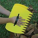 schome gelb groß Garten und Hof Leaf Schaufeln, Kunststoff Scoop Gras, Hand Blatt Rechen und Leaf Collector für Garten Müll Tolles Werkzeug (Set von 2)