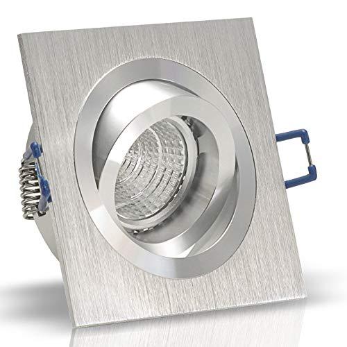 1x Decken Einbauleuchte NOBLE Silber 12V Niedervolt GU5.3 quadratisch eckig schwenkbar OHNE Leuchtmittel Aluminium Einbaustrahler Einbauspot NOBLE 1 -
