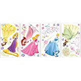 RoomMates RMK1903SCS brilla en pared princesa Disney, 36 hilos