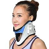 JZQY Hals-Traktionsgerät, Tragbare Aufblasbare Luft Traction, Justierbarer Hals-Bahre-Kragen, Körperliche Therapie-Große Alternative Schmerzlindernde Abhilfe