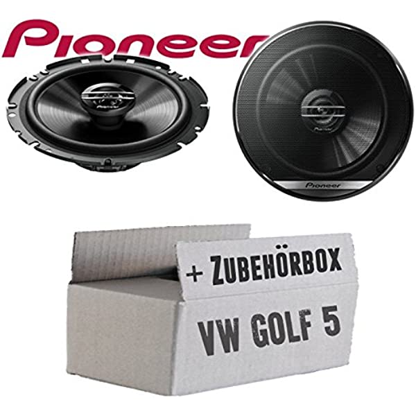 Vw Golf 5 Lautsprecher Boxen Pioneer Ts G1720f 16cm 2 Wege Koax Koaxiallautsprecher Auto Einbausatz Einbauset Navigation