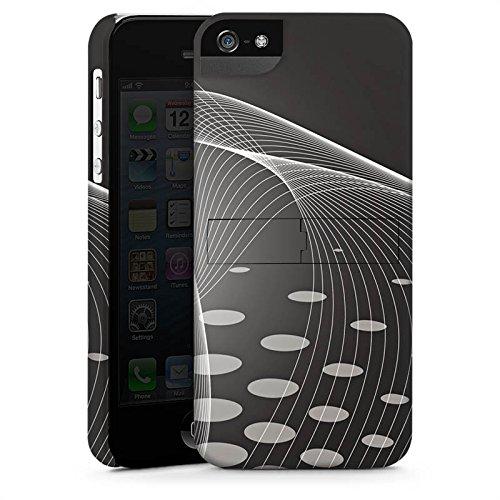 Apple iPhone 5s Housse Étui Protection Coque Points Sphère Abstrait CasStandup blanc