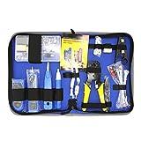 NF-1501 Netzwerk Repair Tool Kit mit Abisolierzange Wire Tracker Krone Auflegewerkzeug Crimpwerkzeug Wartung Tool Set - Blau
