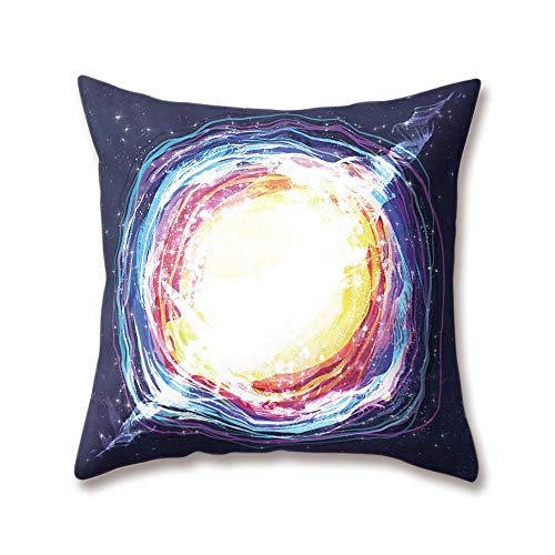 ARTOPB Planet Cushion Covers Astronaut Space Roaming Moon Rock Rocket Printing 18x18/45x45cm Double-Sided Throw Soft Plush Pillow Cases Home Sofa Bed Decorative