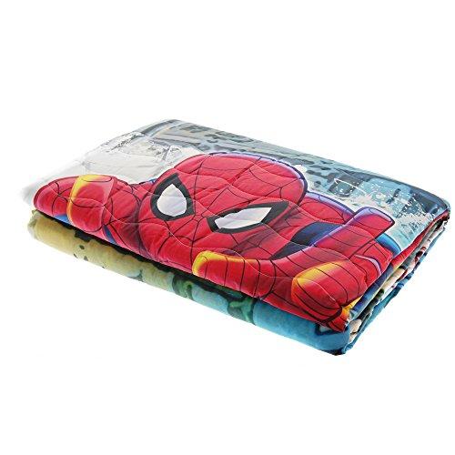 Trapuntino caleffi spiderman broadway stampa digitale puro cotone 100% primaverile estivo 170x265cm