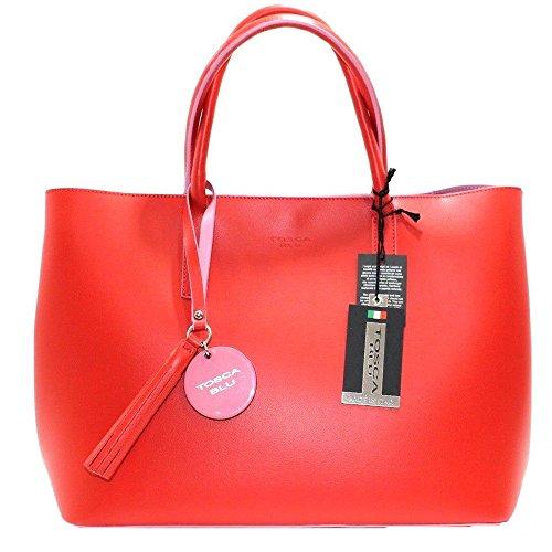 Tosca Blu , Sac pour femme à porter à l'épaule Rouge rouge 32x13x26cm