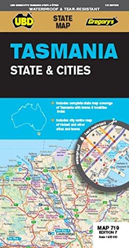 Tasmania State & Cities  1 : 625 000 (Map-tasmanien)