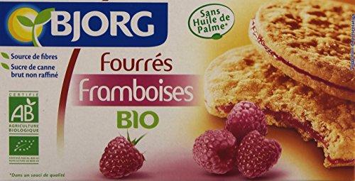Bjorg Biscuits Fourrés aux Framboises Bio 175 g
