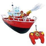 Sam El Bombero - Fireman Sam - Vehículo RC barco Lancha de Titan y Función de Luz y Agua Pulverizada