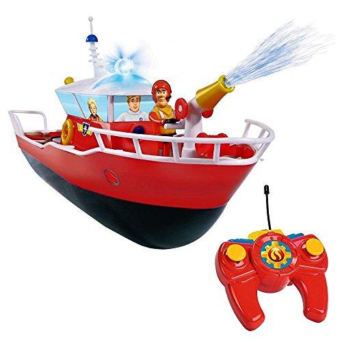 Feuerwehrmann Sam - RC Boot Rettungsboot Titan & Licht & Wasserspritzfunktion