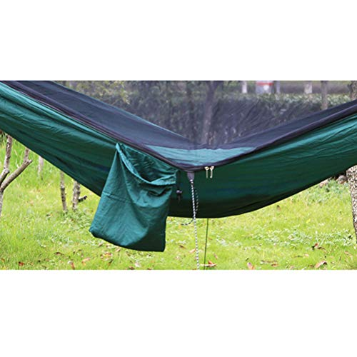 VORCOOL 290 x 140CM Portable Nylon Double Hammock with Bed Net for Outdoor Beach Hiking Traveling Beach Backyard Backpacking  VORCOOL