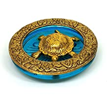 Jaipuri Haat Feng Shui Tortoise Turtle, Gold Metal Finish Like Brass (10 x 10cm)- Vastu Idol for offcie tabel