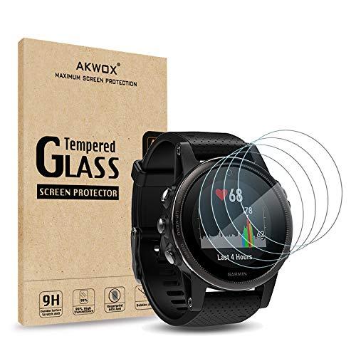 4 Stück Schutzfolie für Garmin Fenix 5S Akwox Panzerglasfolie 9H Härtegrad 0.3mm Kratzfest HD Glasfolie für Fenix 5S