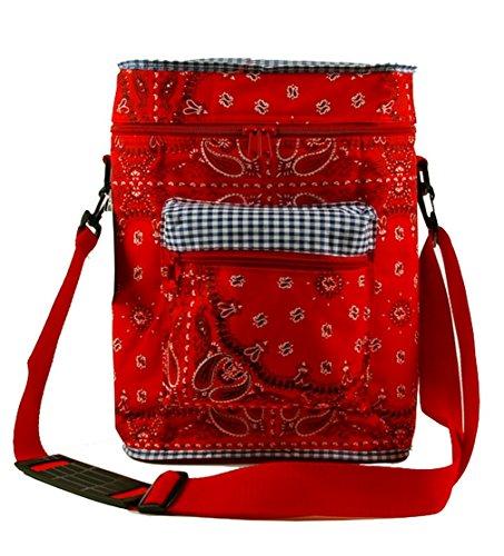 Kühltasche Eistasche Fahrradtasche Picknicktasche Campingtasche Isolierte Thermo Tasche mit Kühlfach für Outdoor Freizeit Picknick Reisen Einkauf
