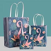 Good01 1 Pcs Lovely Flamingo Fresh Gift Bag Portable Packaging Bag Paper Bag Candies Handbags