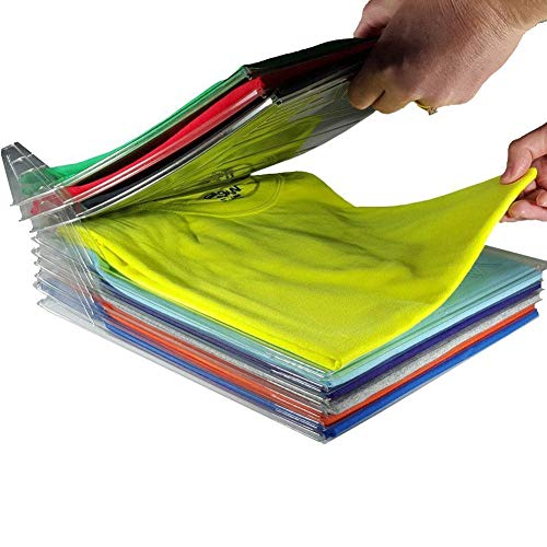 Qiangs Wandschrank-Organisator Schubladen Schrankteiler T-Shirt Kleidung Ordner Durable Faltbare Schrank Organisatoren