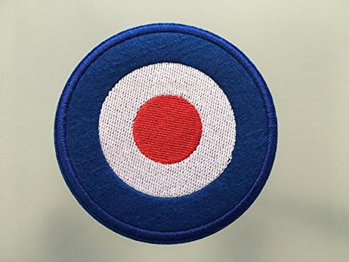Mod logo Subculture patch–Embroideed toppa–7,6cm–Vespa