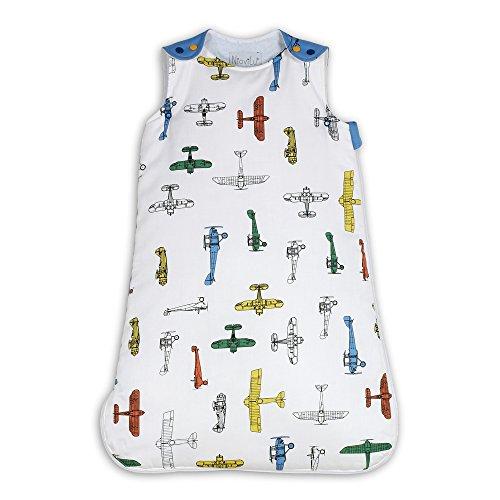 NioviLu Design Sacco nanna bebè - Flotte D' Avions (0-6 mesi / 70 cm - 1 Tog)