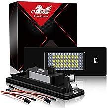 Win Power Led Luces de matrícula 12V Coche CanBus SMD Xenon Blanco 6000k, ...