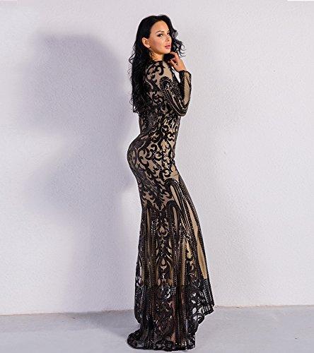 Missord -  Vestito  - Sera  - Maniche lunghe  - Donna Black
