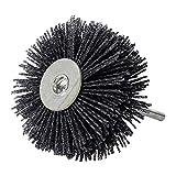 Abrasive Nylon Rad Pinsel Radial Polierbürste für Holz Möbel Mahagoni Finishing Metall Stein ODOD85mm 1 Stück Schwarz 400#