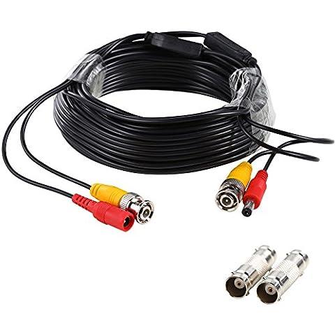 uhppote 2-in-1DC BNC RCA Video Cavo di linea per CCTV DVR Telecamera di sorveglianza