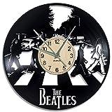 EVEVO Die Beatles Wanduhr Vinyl Schallplatte Retro-Uhr groß Uhren Style Raum Home Dekorationen Tolles Geschenk Wanduhr Die Beatles