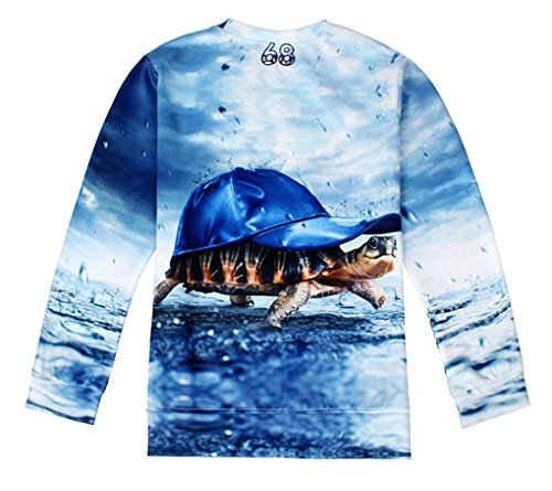 Thenice - Sweat-shirt spécial grossesse - Imprimé Animal - Col Rond - Femme Taille Unique Sea turtle