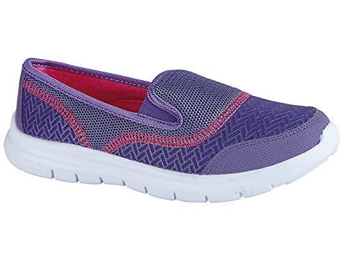 Donna Elastica Da Surf Comodo Scarpe Da Ginnastica Casual Passeggiata Décolleté Scarpe Sportive Vacanze Go Scarpe Misura 4-8 Purple