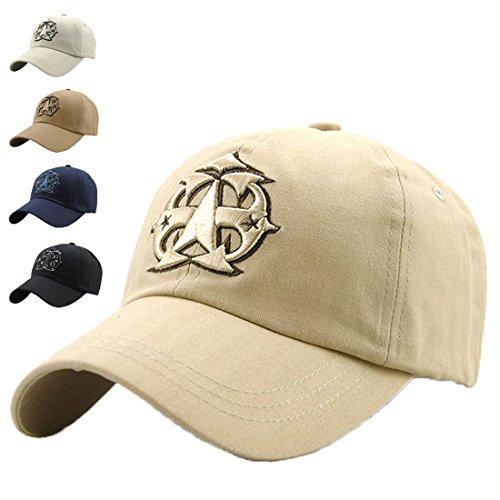 LAOWWO LAOWWO Waschen Denim Baseball Cap Classic Design Freizeit Lässig Mütze Einstellbar Draussen Sport und Reisen Sandwich Peak Cap Herren