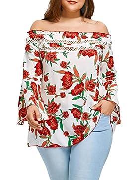 FAMILIZO Camisetas Mujer Verano Blusa Mujer Elegante Camisetas Mujer Manga Larga Floral Camiseta Mujer Camisetas...