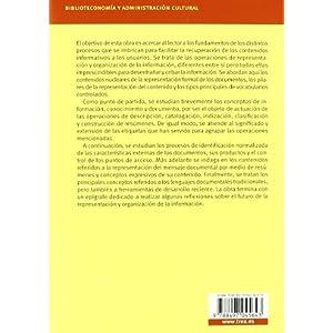 Apuntes sobre representación y organización de la información (Biblioteconomía y Administración Cultural)