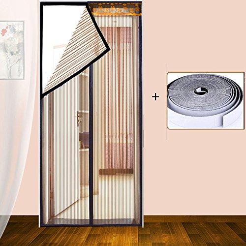 Dsaqao velcro magnetico volare porta sullo schermo, estate mute tenda della maglia, installazione facile protezione della rete mantiene il bug fuori -a 130x200cm(51x79inch)
