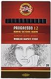KOH-I-NOOR Progresso Graphitstift, holzfrei, Härtegrad 2B (12 Stück)