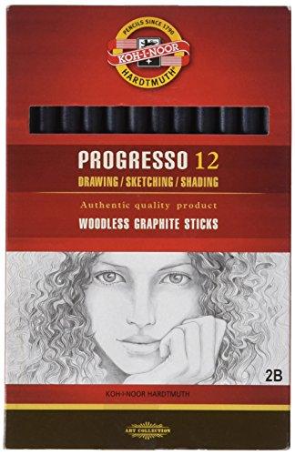 koh-i-noor-progresso-graphitstift-holzfrei-hrtegrad-2b-12-stck