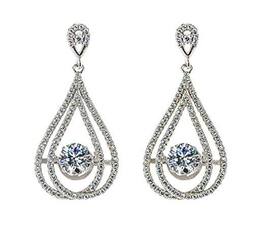 NaNa Frauen-Candle-Light-Tanzen Stone 1 Carat-Center Reines Brilliance-Center Stud Ohrringe - Ohrringe Baumeln Diamond