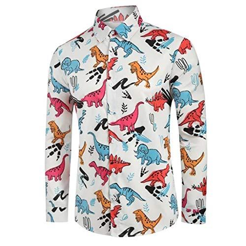 Luckycat Hemd Herren Shirt für das Oktoberfest gebürstet Langarmhemd Freizeithemd Business Party Herren Hemd Regular Fit Langarm Einfarbiges Hemd Shirt für Männer -