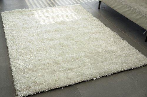Kasper-Wohndesign W002 Teppich, Stoff, weiß, 230 x 160 x 1,5 cm