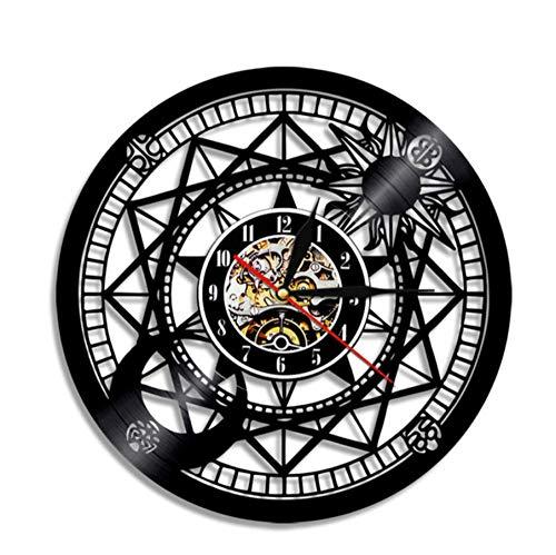usic Wall Clock Vinyl RecordClock Hip Hop Handmade Modern Wall Art Time Clock Gift for Rapper ()