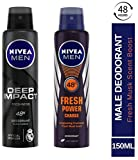 NIVEA MEN Deodorant, Deep Impact Freshness, 150ml and Nivea Fresh Power Charge Deodorant, 150ml