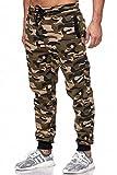 Tazzio Herren Jogginghose Basic 16600 Camouflage-Khaki S