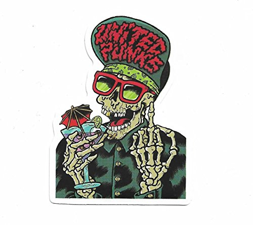 greestick Aufkleber Totenkopf by Skull Head Sticker Bomb einzeln farbig für Auto Skateboard Helm Laptop Snowboard Gepäck Vinyl Decals -