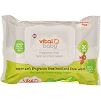 Vital Baby Super Fragrance Free Hand and Face Wipes