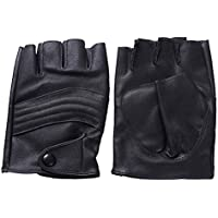 Lyq&st Half Finger Gloves Men's Leather Gloves Non-slip Sports Washed Leather Ski Gloves To Wear Comfortable Outdoor Warm Wear Gloves & Riding Gloves