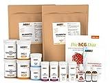 60 Tage hCG-Diät Set mit Molkenprotein WPC 80 | hCG Aktivator | Buch | Aromatropfen (erdbeere)
