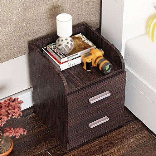 FEI Chevet Table Nightstand Cabinet Wenge Meubles de Chambre Chest Tiroir Rangement Étagère (Couleur : Noir)