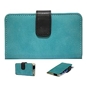 Jo Jo A8 Nillofer Leather Carry Case Cover Pouch Wallet Case For Sony Xperia acro HD SOI12 Light Blue Black