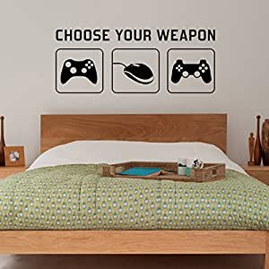 Radecal choose your weapon video game gaming vinyl for 3d room decoration games