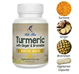 Turmeric with Ginger & Bromelain, 60 Vegetarian Capsules, Herbal Botanical Formula Supports Digestive Health by Rite Flex by Rite-Flex